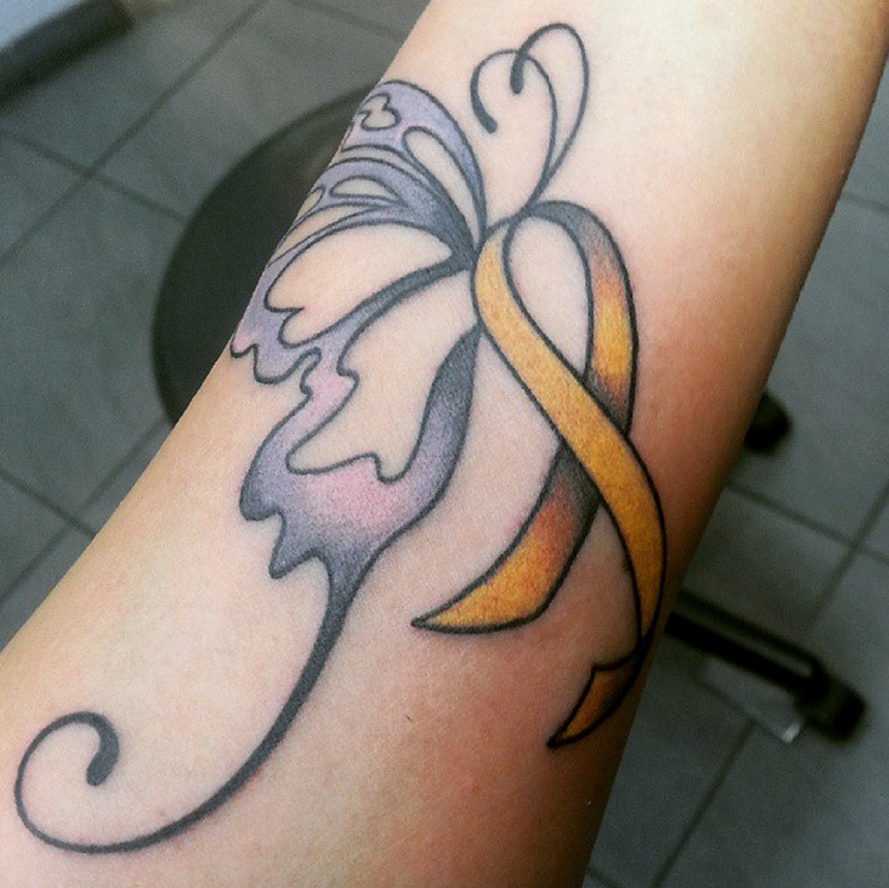 What Do Butterfly Cancer Ribbon Tattoos Mean Survivors Of Cancer