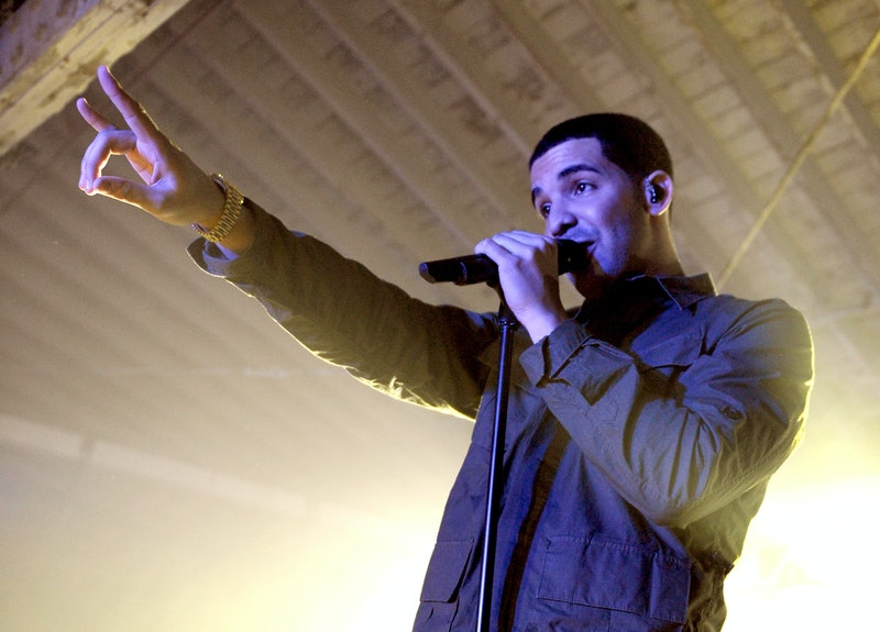 """Rapper Drake throws up a peace sign. Here's what """"with my woes"""" from Drake's song """"Know Yourself"""" me..."""