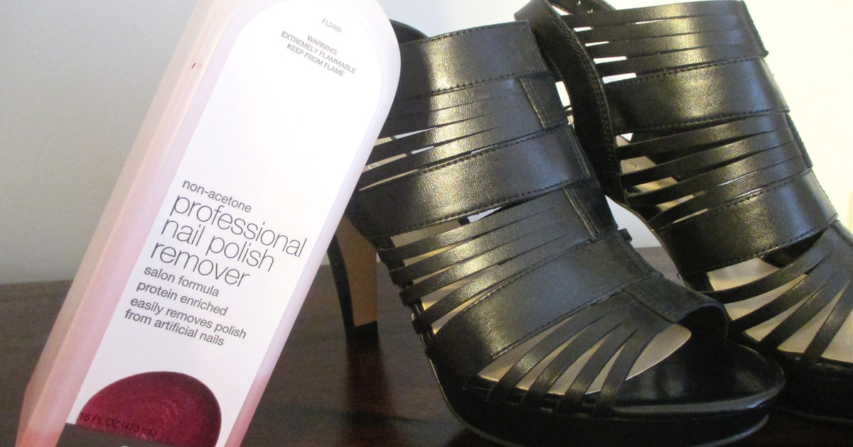 How To Clean Your Shoes With Household Products Because Nail Polish Remover Isn T Just For Your Old Manicure