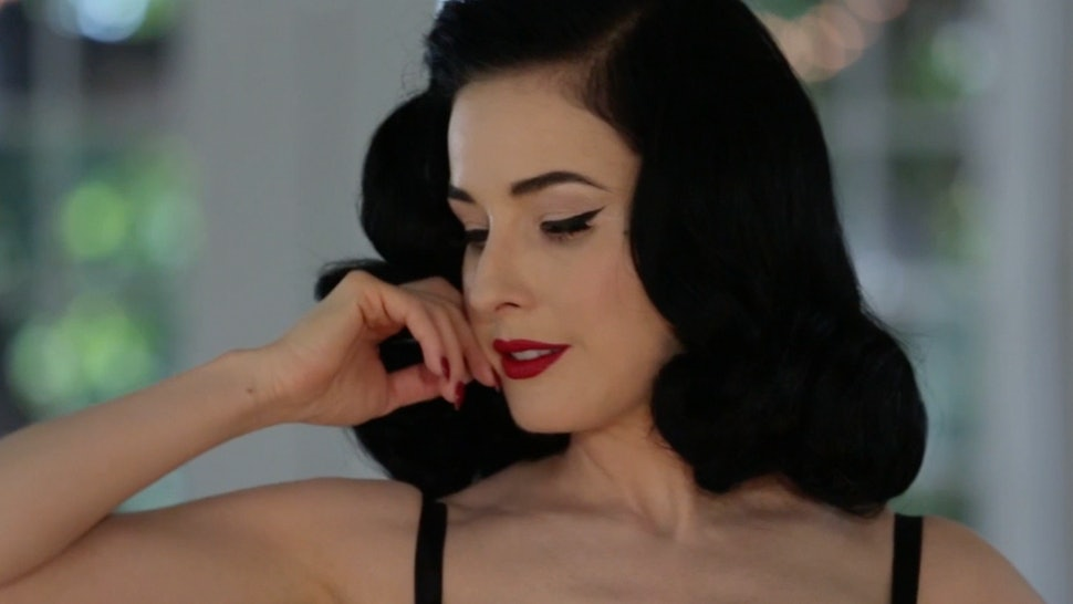 f42285f978b How To Wear Lingerie According To The Sexy Underwear Master Dita Von Teese  — EXCLUSIVE VIDEO