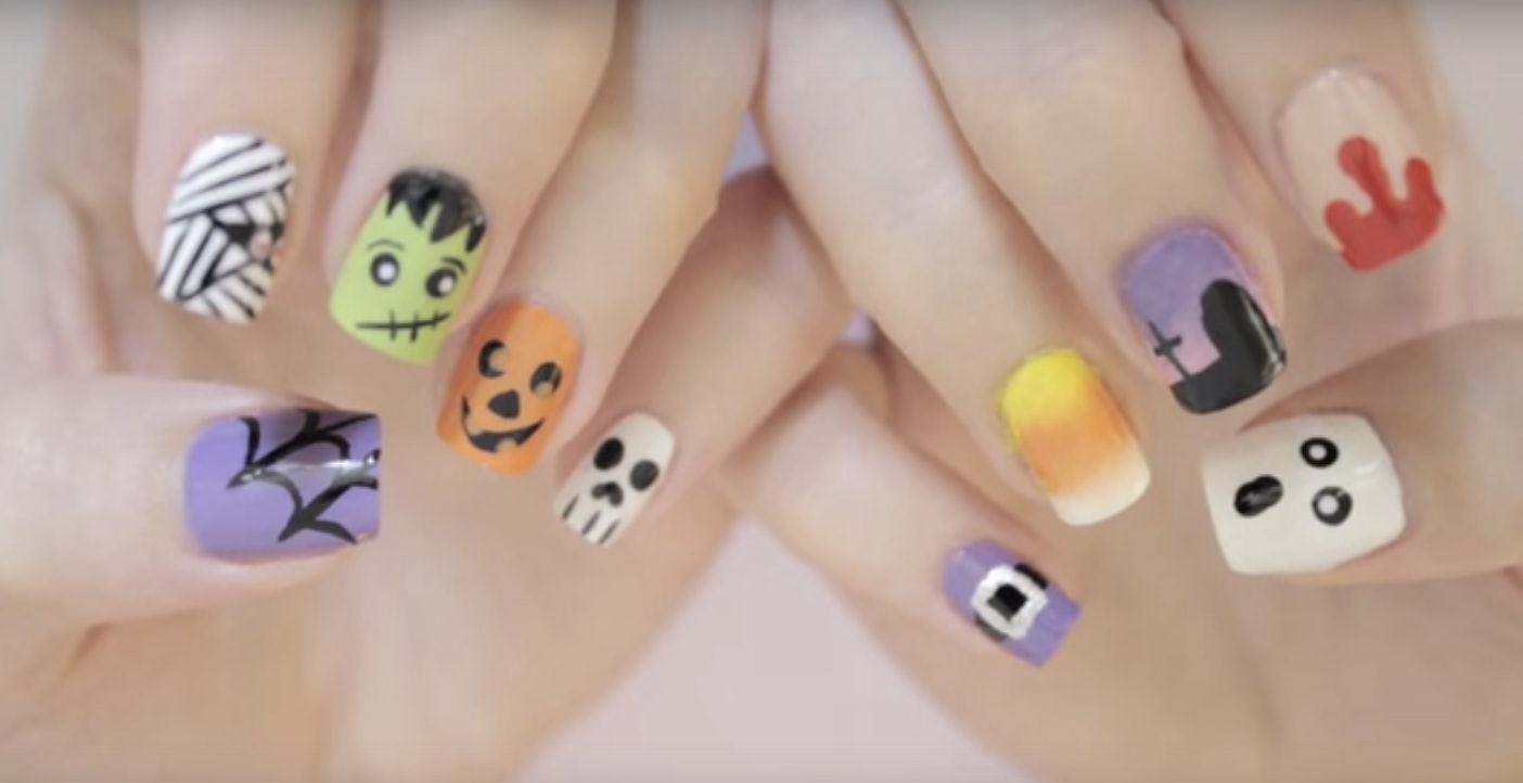 10 halloween nail art tutorials, because it's not just about the costume