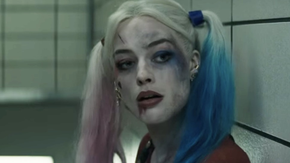 Harley Quinn Gives A Tattoo On Suicide Squad Set But With Her Own