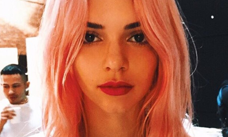 How To Dye Brown Hair Pink Like Kendall Jenner