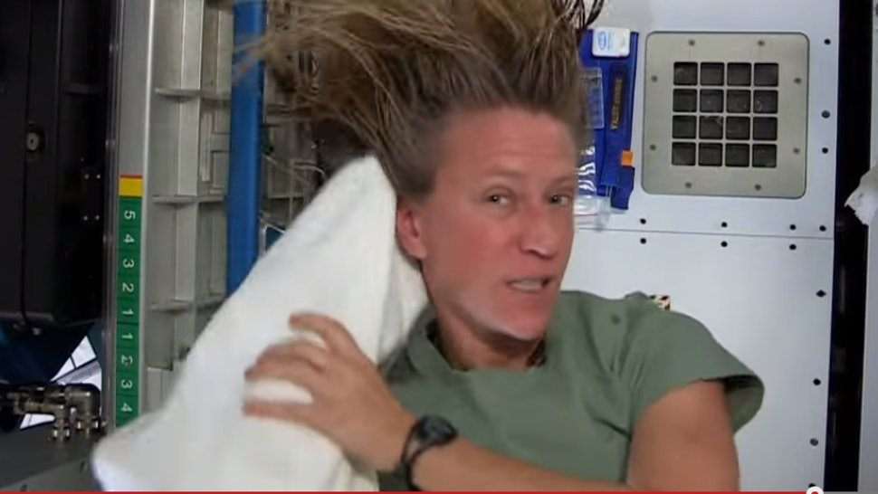 How To Wash Hair In Space As Demonstrated By Your Zero Gravity Hero