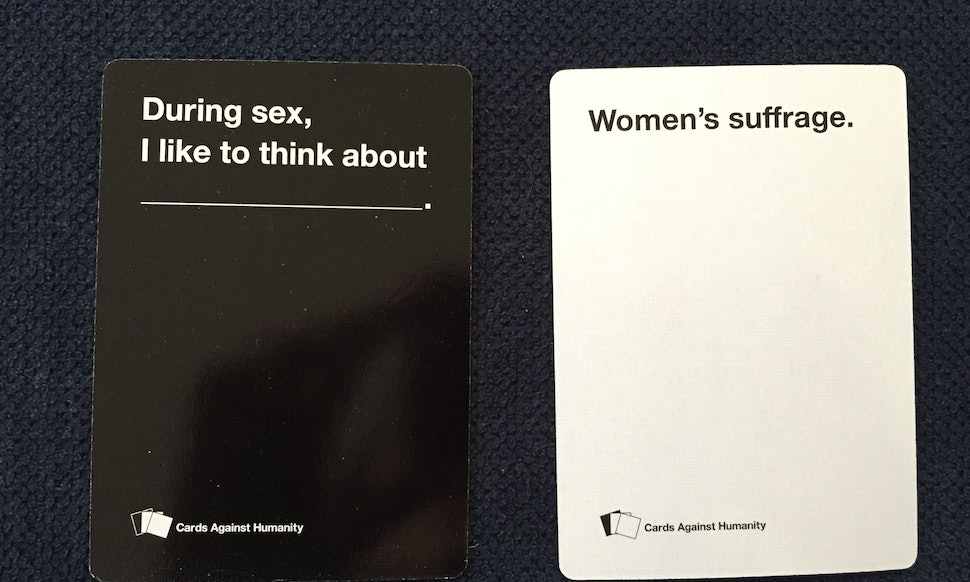 Feminists Play Cards Against Humanity And Lets Just Say The