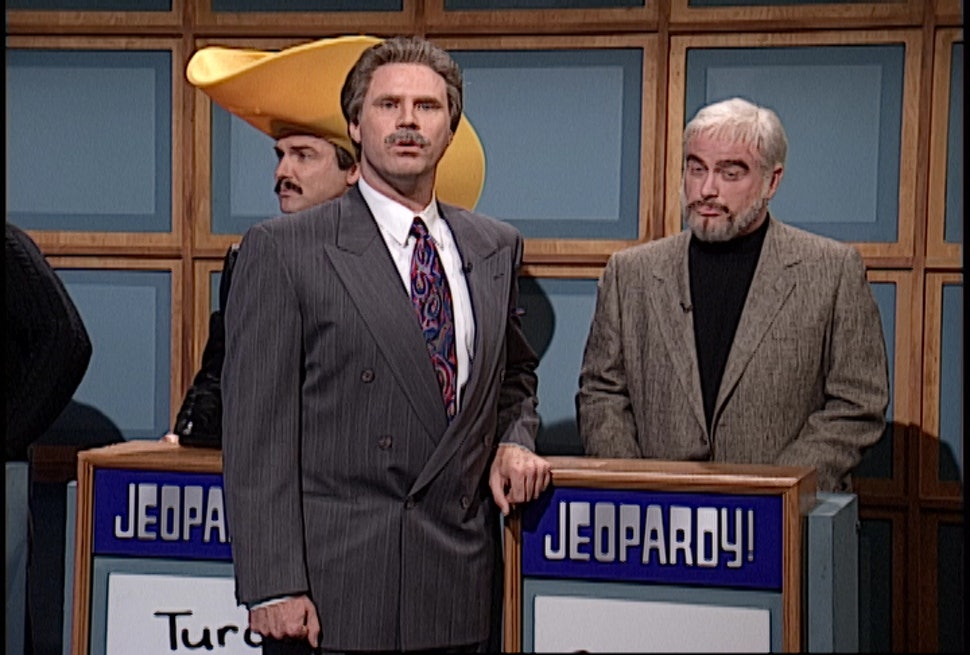 Celebrity Jeopardy On Snl  Reunites Will Ferrell Alec Baldwin Norm Macdonald More For The Funniest Game Yet Video