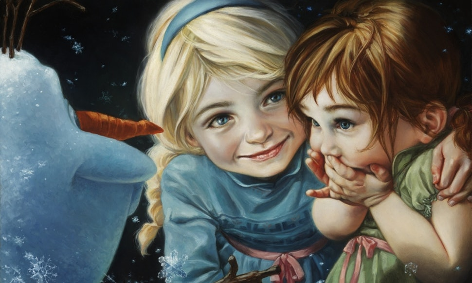 fine art disney princess paintings by artist heather theurer bring