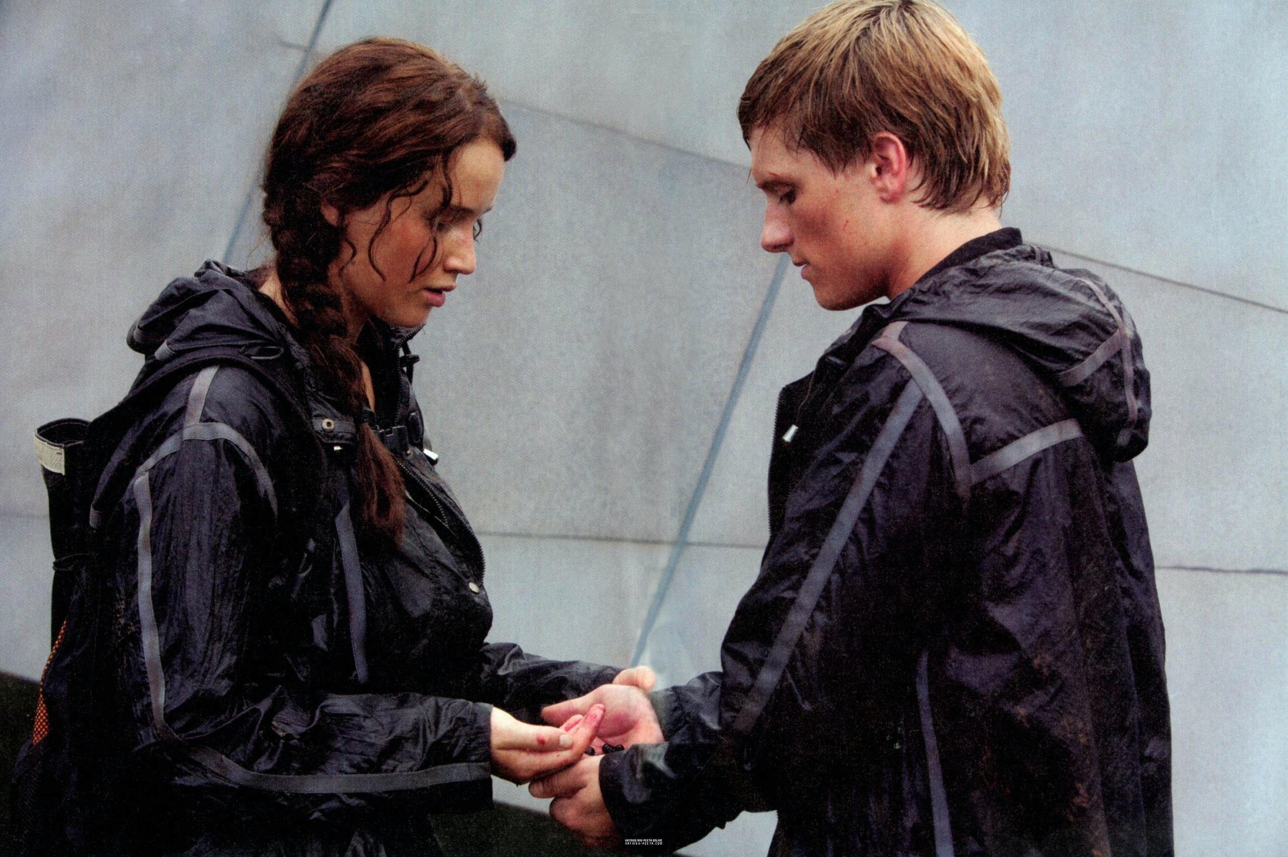 Image result for peeta and katniss