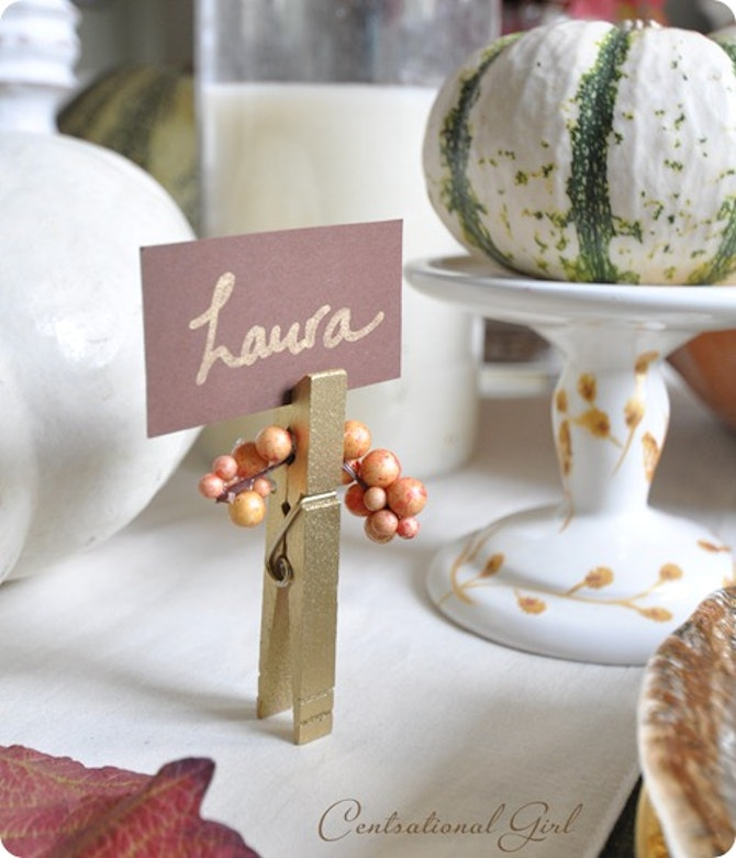 10 DIY Thanksgiving Place Card Ideas That