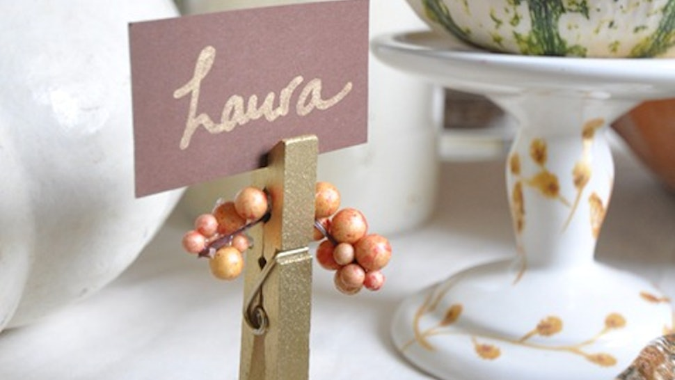 10 Diy Thanksgiving Place Card Ideas That Will Make Setting