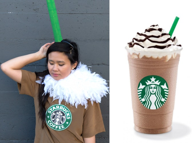 starbucks costume  starbucks halloween costume  starbucks birthday  vanilla bean costume  frappe drink costume  starbucks  frappe