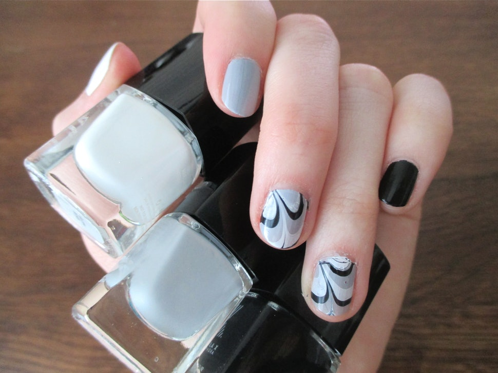 How To Do Nail Art | How To Do Water Marble Nail Art Which Is Not Nearly As Hard As It Looks