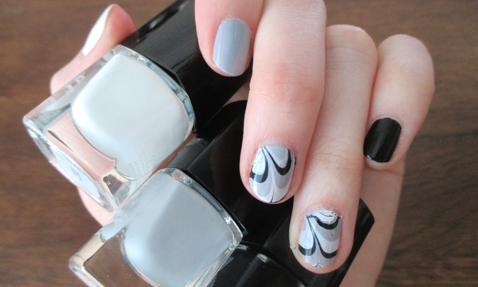 How To Do Water Marble Nail Art, Which Is Not Nearly As Hard As It Looks