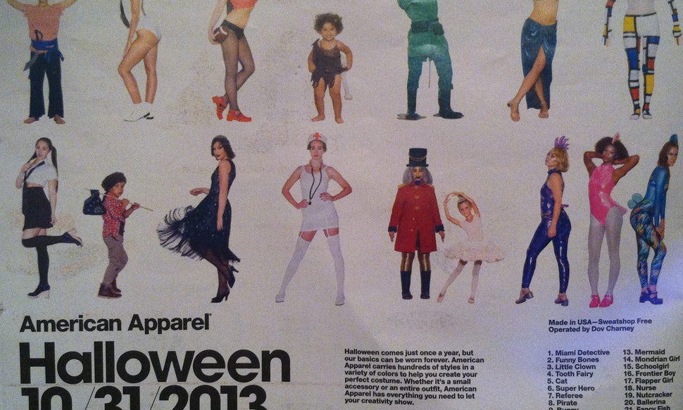 american apparels halloween costume ideas are too ridiculous