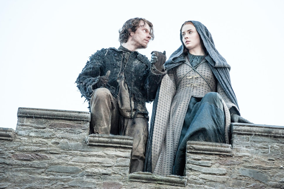 Image result for sansa and theon jump