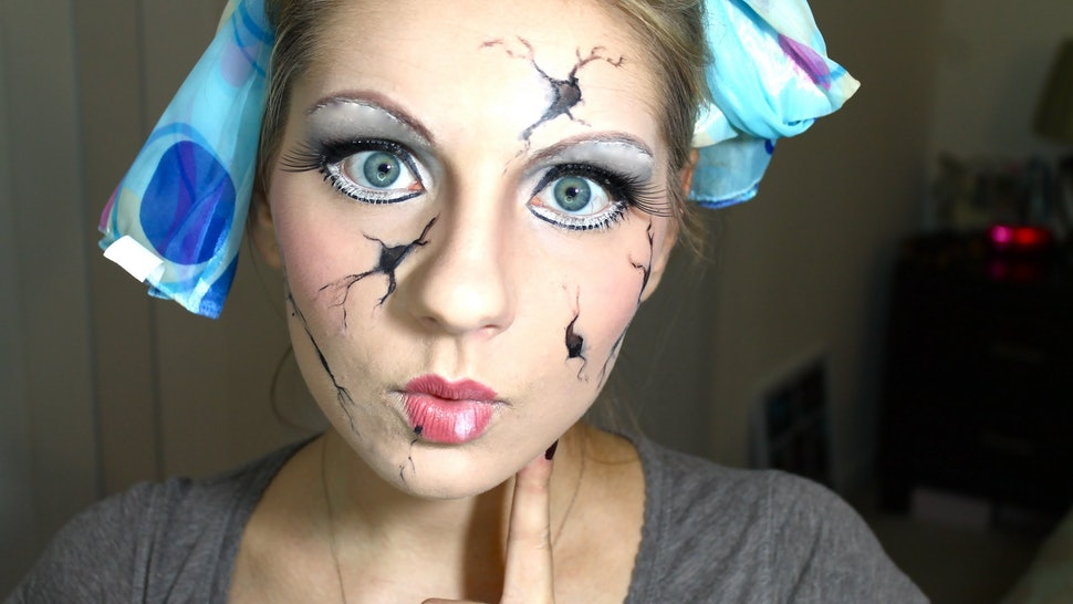 8 Cracked Doll Halloween Makeup Tutorials For A Cute & Creepy Costume — VIDEOS