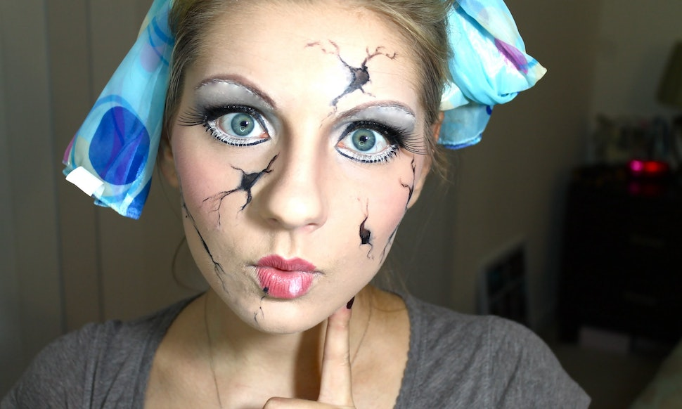 8 cracked doll halloween makeup tutorials for a cute creepy costume videos