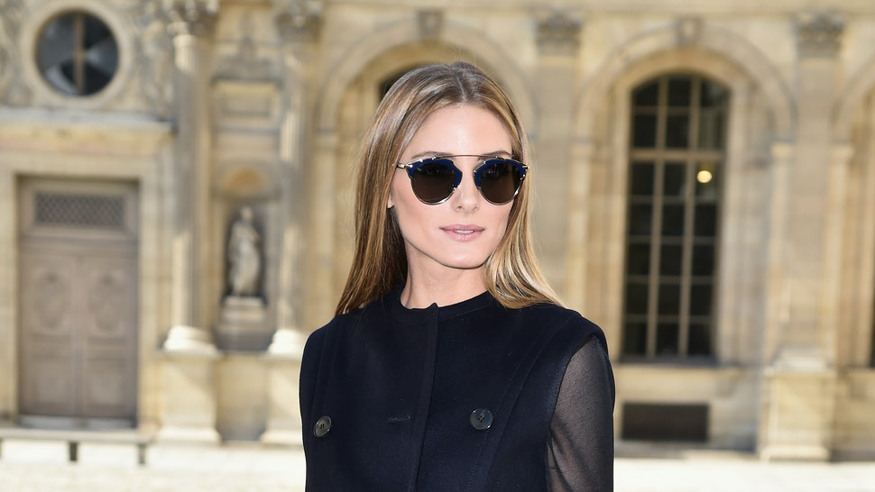 faf042cf36d Olivia Palermo x Westward Leaning Is All About Rose Gold Sunglasses — PHOTOS