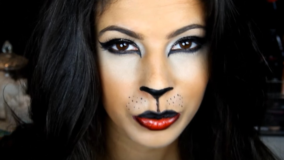 11 Easy Cat Halloween Makeup Tutorials For Every Type Of