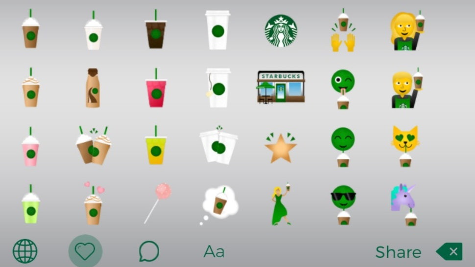 How To Get The Starbucks Emoji Keyboard, Because Your Life
