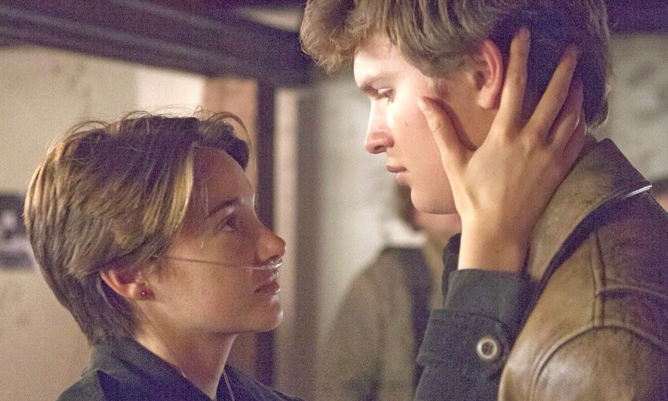 The Fault In Our Stars Hazel And Augustus Kiss