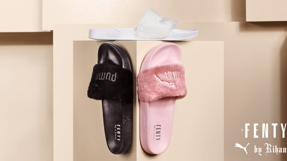 sports shoes 762f3 b5864 Will Rihanna Puma Fur Slides Be Restocked? Here's What We Know