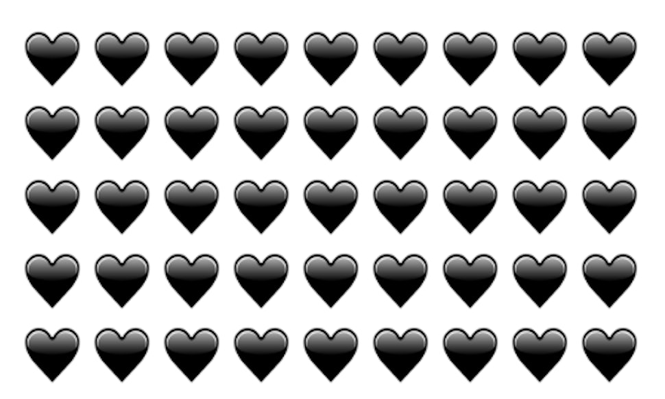 The Black Heart Emoji Is Part Of Unicode 9 And Its About To Become