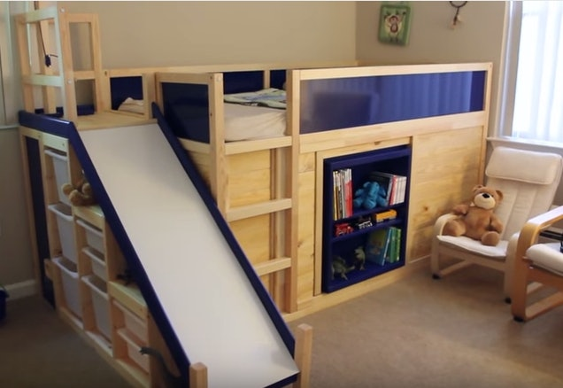 Dadu0027s Awesome IKEA Toddler Bed Hack Makes Anything Look Possible (Maybe  Even Assembling An Actual IKEA Bed)