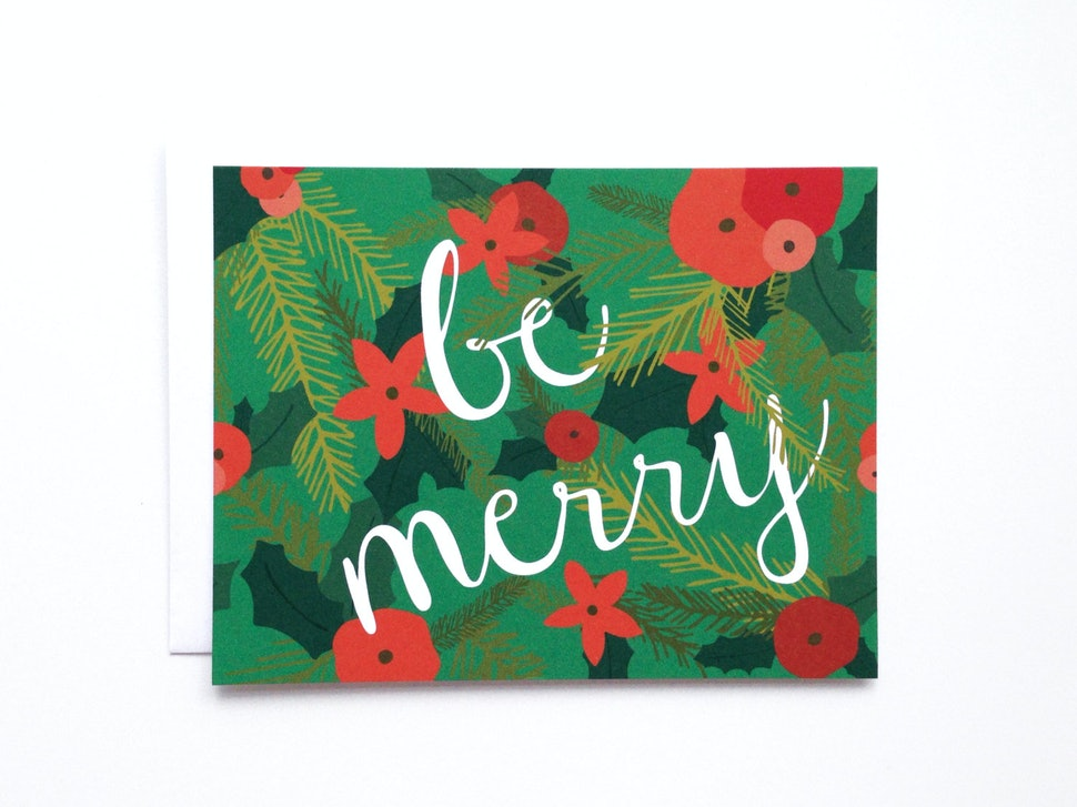12 holiday cards for everyone on your list because sending a merry christmas text is out of the question this year