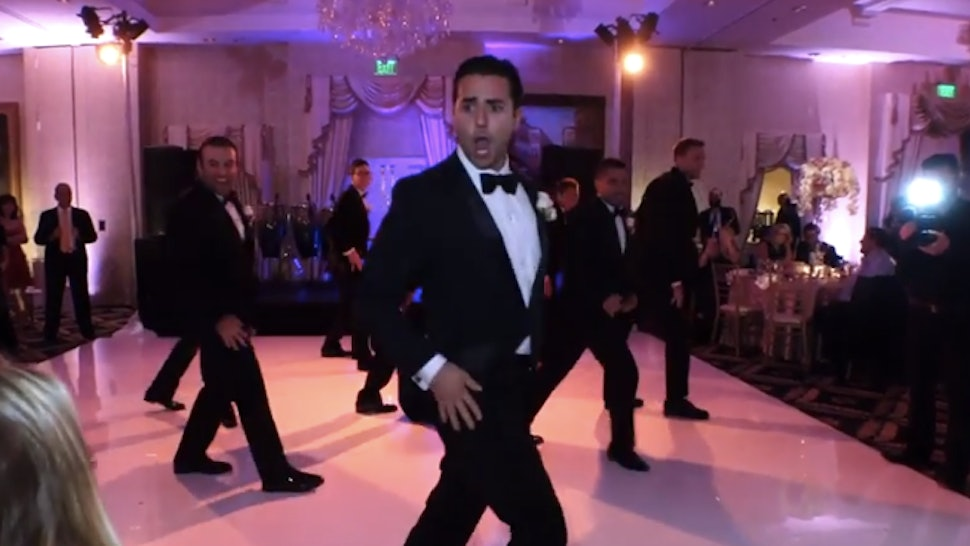47028c525935e These Groomsmen Dancing and Lip Syncing to Beyonce and the Backstreet Boys  Win the Awesome Wedding of the Year Award