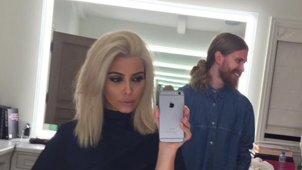 Is Kim Kardashians Platinum Blonde Hair Real This Aint No Wig Folks