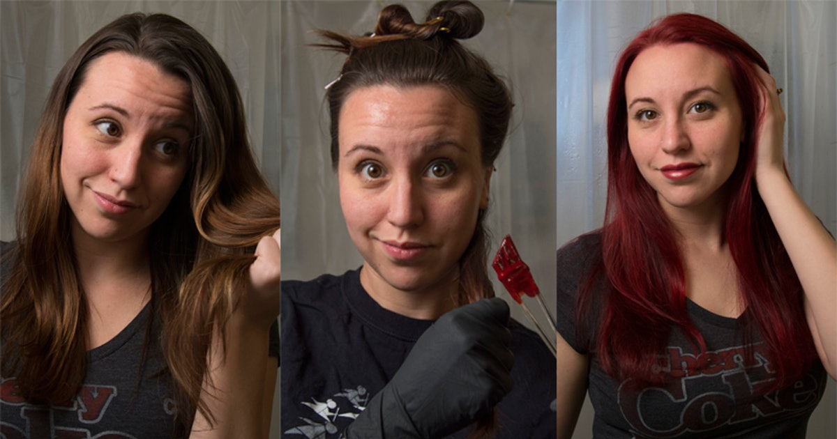 How To Dye Your Brown Hair Red Without Bleach If You\'re In The Mood ...