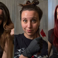 Tips on how to dye your brown hair red without bleach.