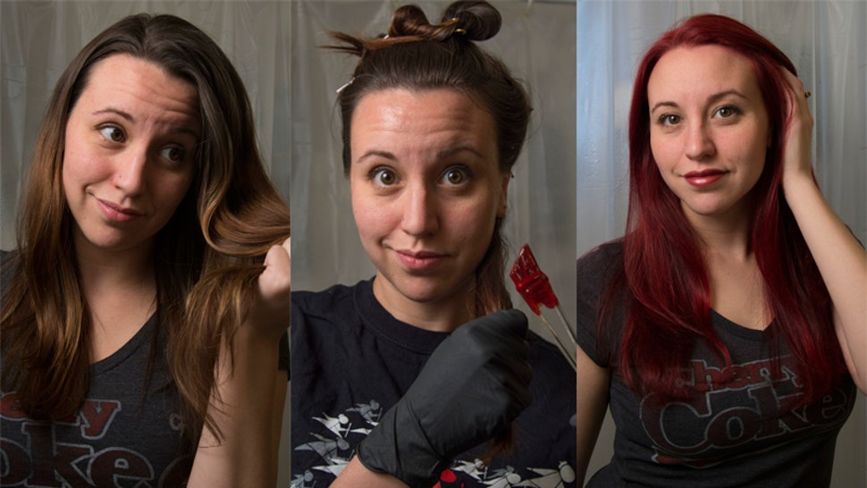 How To Dye Your Brown Hair Red Without Bleach If You Re In The Mood