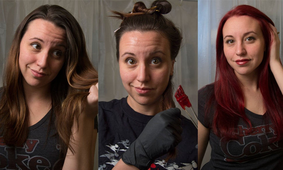 How To Dye Your Brown Hair Red Without Bleach If Youre In The Mood