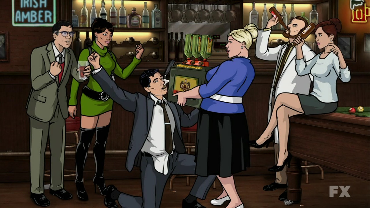 archer season 5 is upon us so a bunch of cheryl pam gifs felt