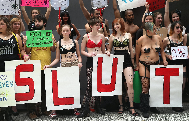 Demonstration slut girl