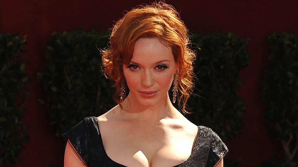 4b212252056a Christina Hendricks Rocks Convertible Dress To 'Mad Men' Black & Red Ball —  Is This The Next Big Thing In Practical Fashion?