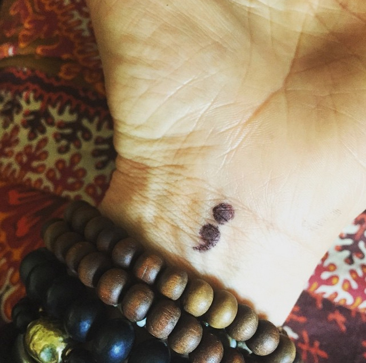 What does a semicolon tattoo mean how the semicolon project is how the semicolon project is using the symbol to support people with mental illness photos buycottarizona Image collections