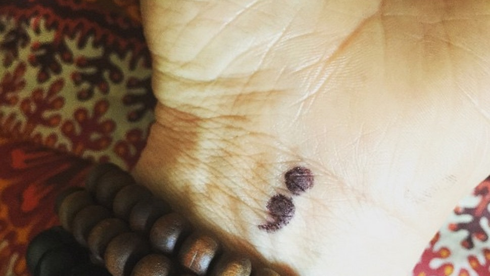 53a48e940 What Does A Semicolon Tattoo Mean? How The Semicolon Project Is Using The  Symbol To Support People With Mental Illness — PHOTOS