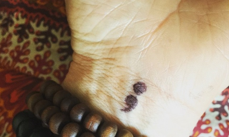 What Does A Semicolon Tattoo Mean How The Semicolon Project Is