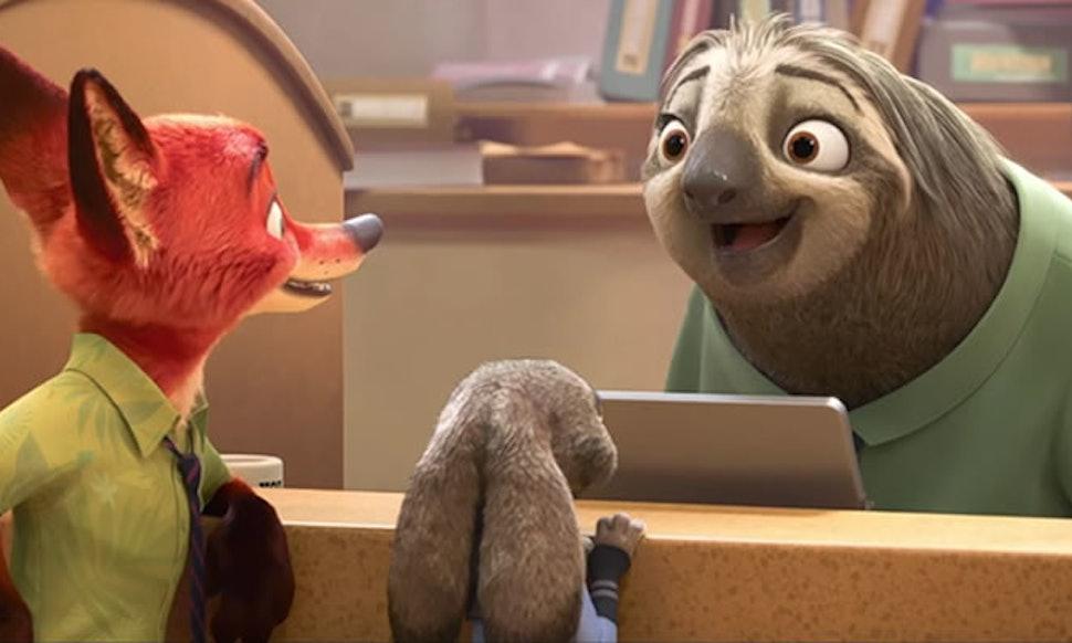 the zootopia sloth scene follows classic comedy principles to