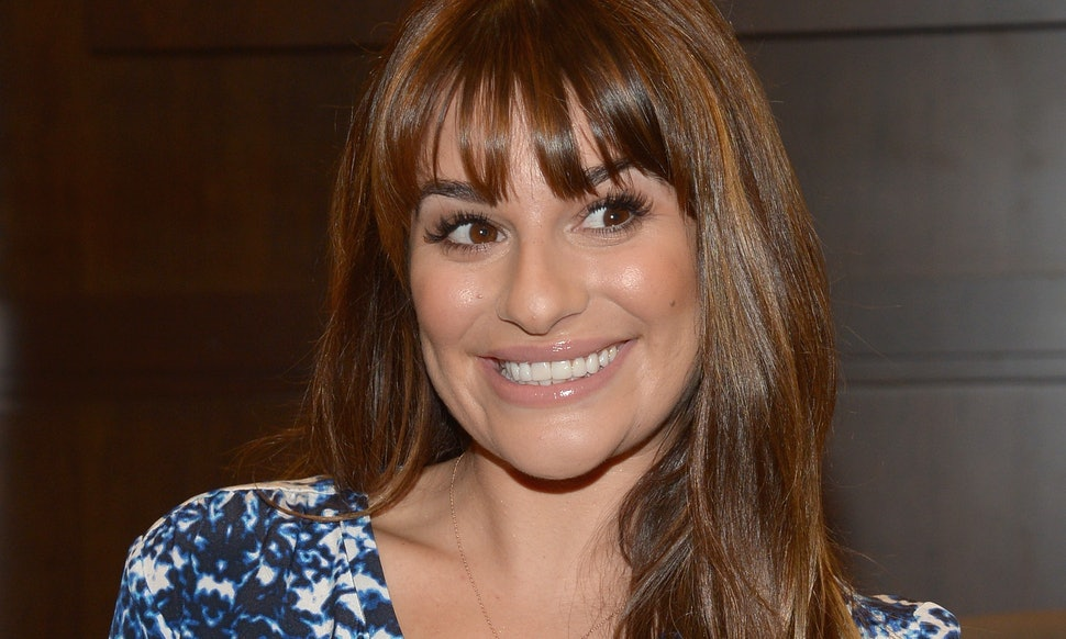 13 Lea Michele Bangs Styles That Prove She Has The Best Most