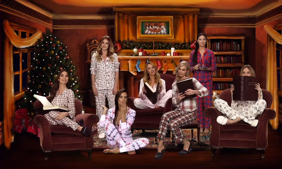 victorias secret angels do twas the night before christmas with a sexily adorable spin of course - Twas The Night Before Christmas Youtube
