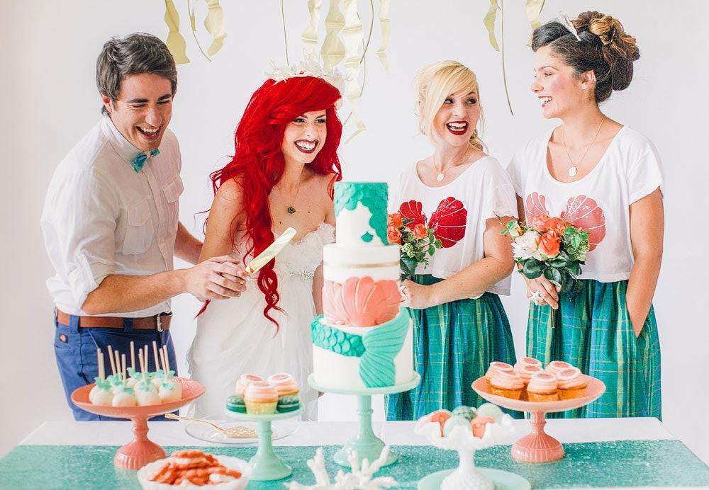 This Little Mermaid Inspired Wedding Shoot Is The Stuff Grownup