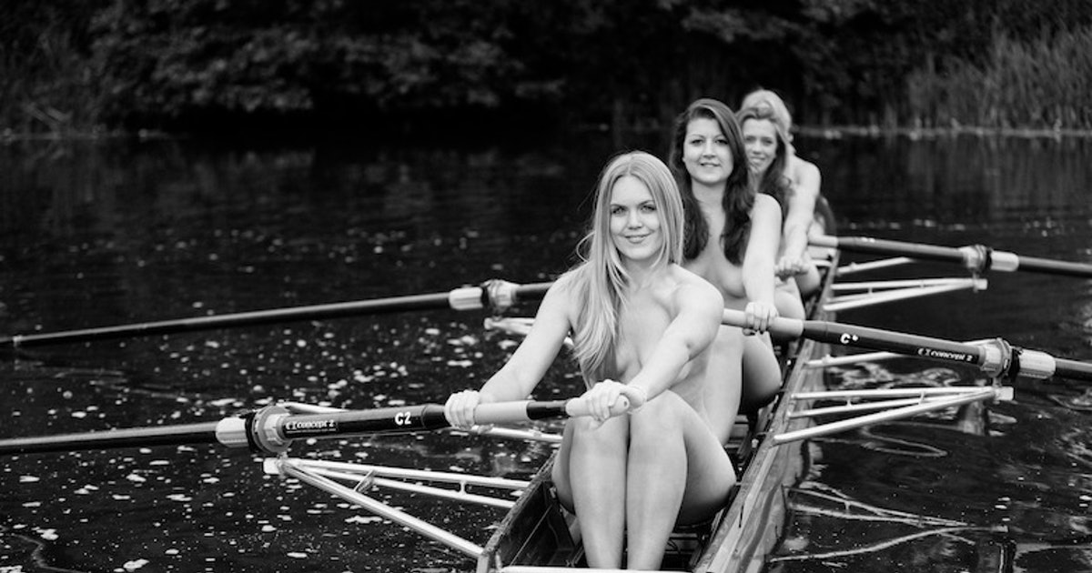 Female University Rowing Team Str!p Totally N@ked For New