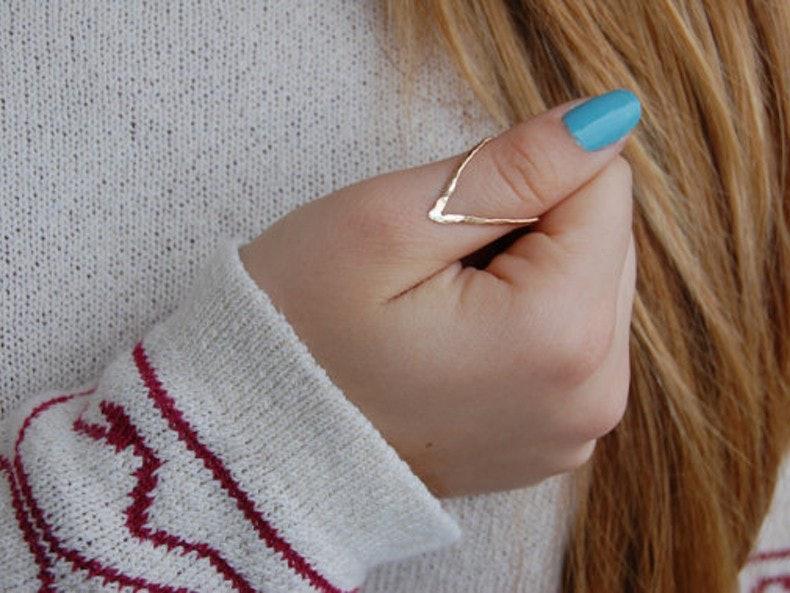 Wearing thumb rings