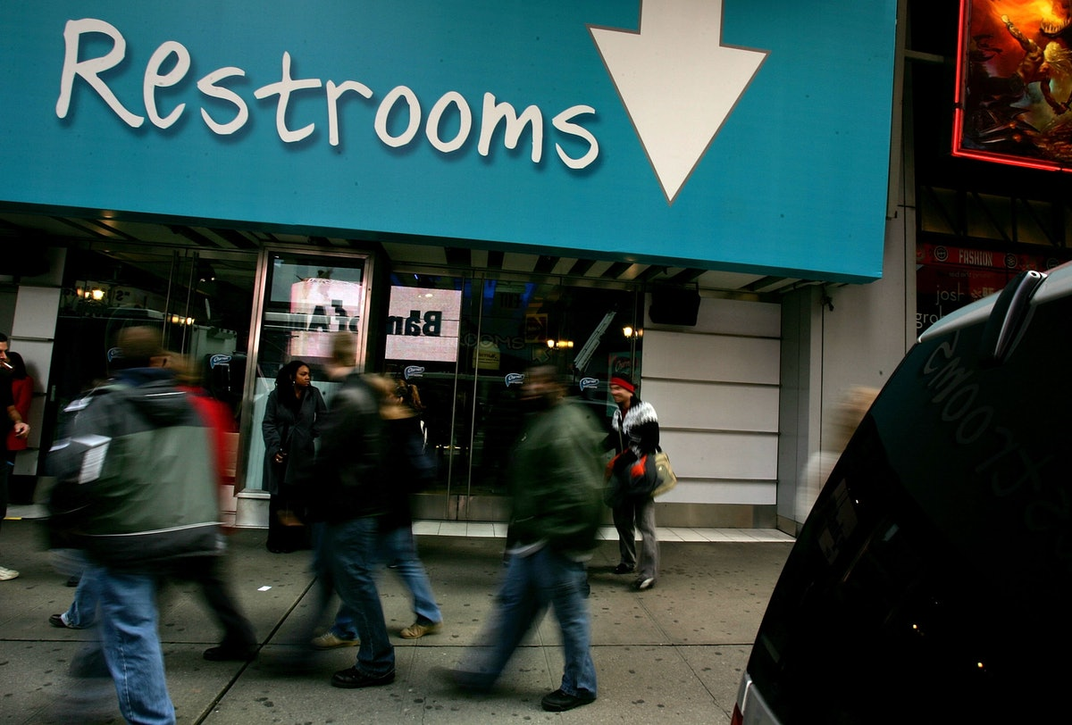 which restroom should transgender individuals use Most americans (59 percent) aren't comfortable with the idea of transgender students picking which bathroom or locker room to use, and think they should use the facilities of the gender they were.