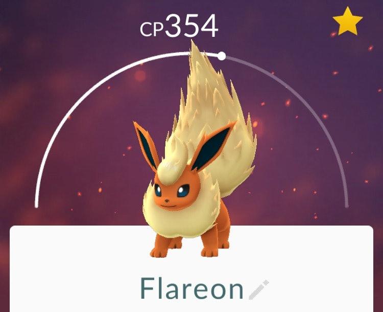 Výsledek obrázku pro flareon pokemon go