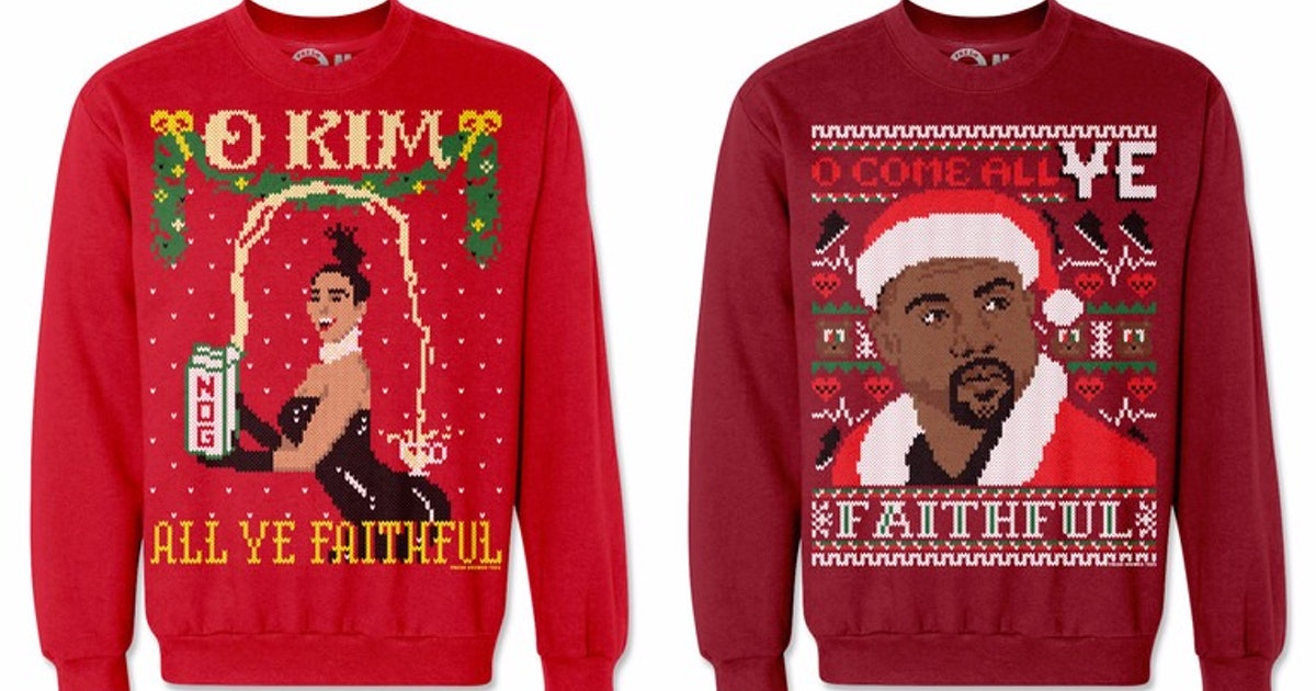 Kimye Ugly Christmas Sweaters Are Everything You Need This Holiday ...